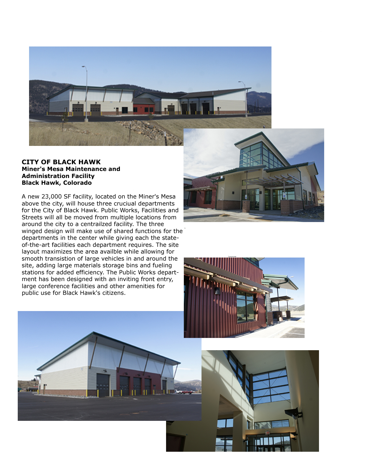 Civic - Black Hawk Miner's Mesa Construction Info